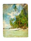 Tropical Beach -Retro Styled Picture Arte por  Maugli-l