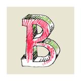 Crayon Alphabet, Hand Drawn Letter B Posters by Andriy Zholudyev