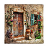 Charming Streets Of Old Mediterranean Towns Poster von  Maugli-l