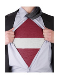 Business Man With Latvian Flag T-Shirt Prints by  IJdema