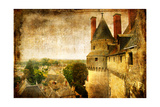 Medieval Castle Langeais - Picture In Retro Style Prints by  Maugli-l