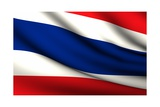 Flying Flag Of Thailand - All Countries Collection Poster by  megastocker