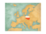 Map Of Europe - Poland (Summer Style) Posters by  Tindo