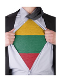 Business Man With Lithuanian Flag T-Shirt Art by  IJdema