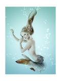 Mermaid Beautiful Magic Underwater Mythology Being Original Photo Compilation Prints by  khorzhevska