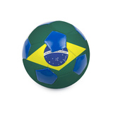 Soccer Ball With Brazil Flag On White Prints by  rusak