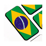Keyboard Keys With The Brazilian Flag Poster by  IJdema
