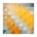 Abstract Triangles Geometry Prints by  art_of_sun