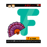 Letter F With Fan Cartoon Illustration Prints by Igor Zakowski