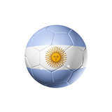 Soccer Football Ball With Argentina Flag Posters by  daboost