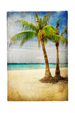 Tropical Beach - Artwork In Painting Style 高品質プリント :  Maugli-l