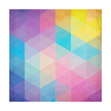 Colorful Abstract Triangles Premium Giclee Print by  art_of_sun