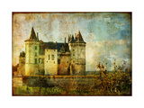 Beautiful Saumur Castle - Vintage Picture Print by  Maugli-l