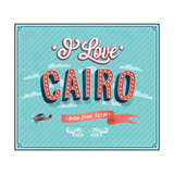 Vintage Greeting Card From Cairo - Egypt Poster by  MiloArt