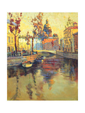 Kind On Old Streets Of St.-Petersburg Prints by  balaikin2009