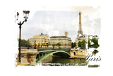 Parisian Streets - Picture In Vintage Painting Style Posters by  Maugli-l