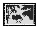 Silhouette Camel On Postage Stamps Posters by  basel101658