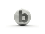 3D Alphabet, Spherical Letter B Isolated On White Background Posters by Andriy Zholudyev