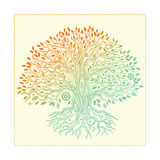 transiastock - Beautiful Vintage Hand Drawn Tree Of Life Obrazy
