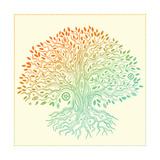 Beautiful Vintage Hand Drawn Tree Of Life Kunstdrucke von  transiastock