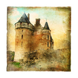 Medieval Castle - Artwork In Painting Style Prints by  Maugli-l
