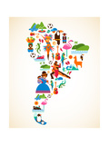 South America Love Print by  Marish