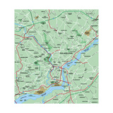 Philadelphia, Pennsylvania Metropolitan Area Map Prints by  BFordyce