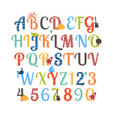 Pink Pueblo - Cute Retro Style Boy Themed Alphabet Set Obrazy