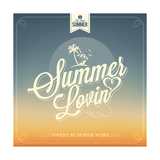 Summer Lovin Typography Background For Summer Prints by  Melindula