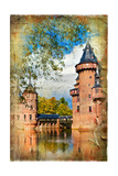 Medieval Castle - Artwork In Painting Style Poster by  Maugli-l