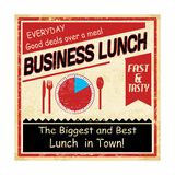 Vintage Business Lunch Grunge Poster Prints by  radubalint