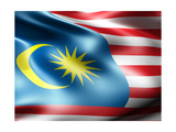 Malaysia Country Flag 3D Illustration Prints by  pling
