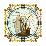 Illustration Of Sailing Ships Of The 17Th Century Premium Giclee Print by  Vertyr