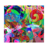 Abstract Background, Color Painted Graffiti Prints by Andriy Zholudyev