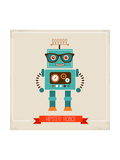 Hipster Robot Toy Icon And Illustration Prints by  Marish