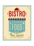 Vintage Bistro Poster Prints by  avean