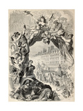 Old Allegoric Illustration Of Mardi Gras (Fat Tuesday) During Carnival Celebrations In Paris Prints by  marzolino