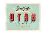 Vintage Touristic Greeting Card Prints by Real Callahan