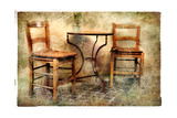 Two Old Chairs - Artwork In Retro Painting Style Prints by  Maugli-l