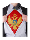 Business Man With Montenegrin Flag T-Shirt Prints by  IJdema