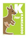 K For The Kangaroo, An Animal Alphabet For The Kids Posters by Elizabeta Lexa