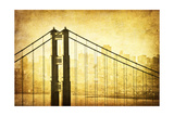 Grunge Image Of Golden Gate Bridge, San Francisco, California Posters by  javarman