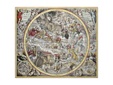 Old Representation Of Christian Celestial Hemisphere Reprodukcje autor marzolino