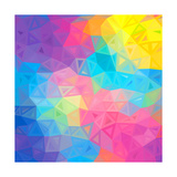 Colorful Abstract Triangles Art by  art_of_sun