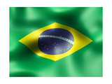 Brazil Country Flag 3D Illustration Posters por  pling
