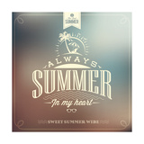 It'S Always Summer Typography Background For Summer Prints by  Melindula