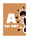 A For The Ant, An Animal Alphabet For The Children Prints by Elizabeta Lexa