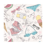 Cute Summer Abstract Pattern Posters by cherry blossom girl
