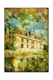 Castle On Water - Picture In Retro Style Posters by  Maugli-l