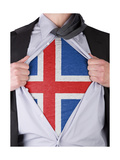 Business Man With Icelandic Flag T-Shirt Posters by  IJdema